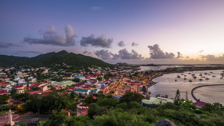 Marigot, Saint Martin and the Caribbean from St. Louis Fort.