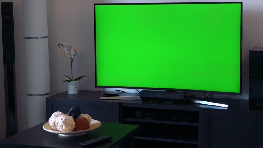 A Tv With A Green Stock Footage Video 100 Royalty Free 22920376 Shutterstock