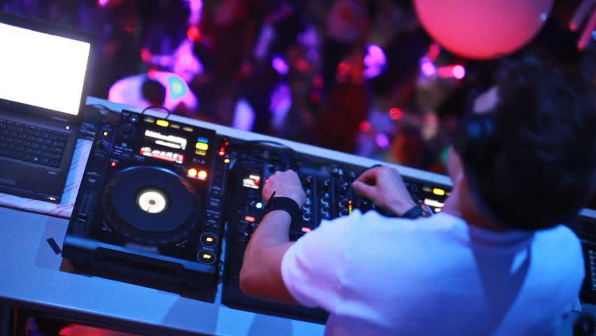 Dj mixing at the night club   Shutterstock HD Video #22968850