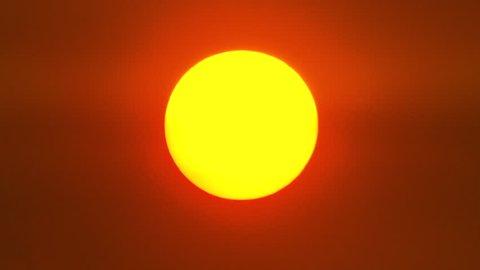 Bright orange sunset