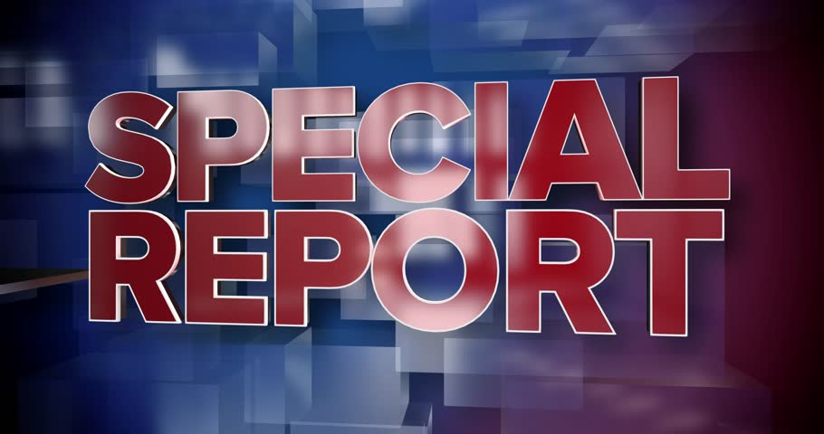 A red and blue dynamic 3D Special Report news title page animation. | Shutterstock HD Video #22999489