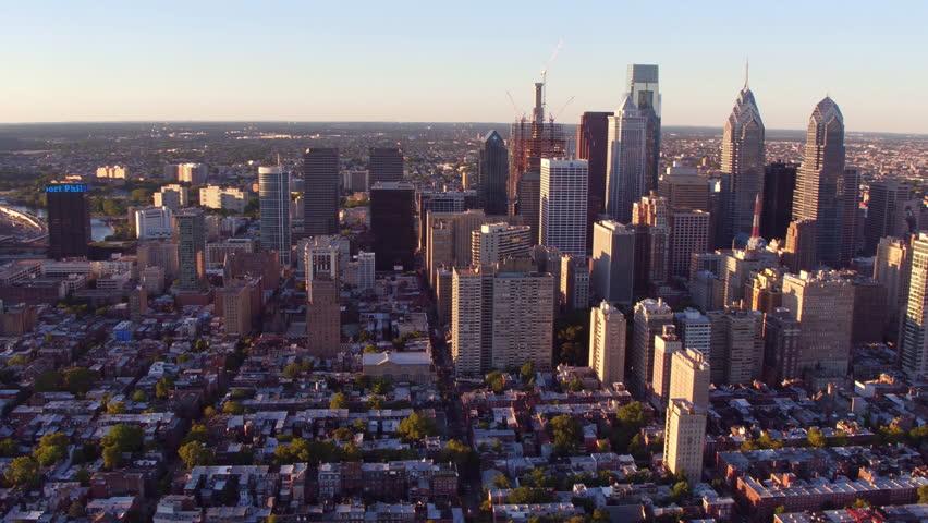 Aerial view of Philadelphia, Pennsylvania | Shutterstock HD Video #23013784