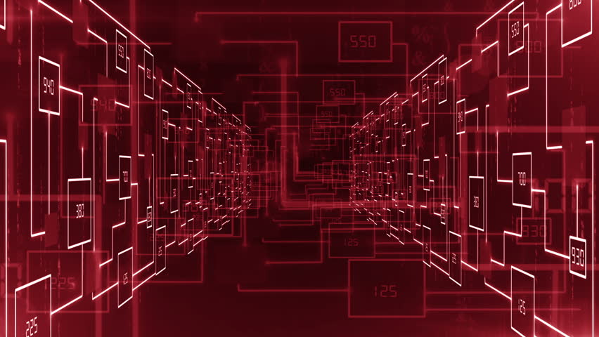 Electronic circuit zoom in tunnel background LOOP   Shutterstock HD Video #23036437