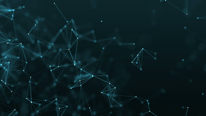 4K rendered computer generated big data video abstract moving background. Triangles, dots and lines are connecting with shine on blur background. Slow motion and shallow depth of field Royalty-Free Stock Footage #23047249