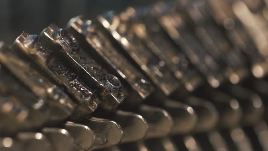 Old Vintage Typewriter, close-up, 4K UltraHD.