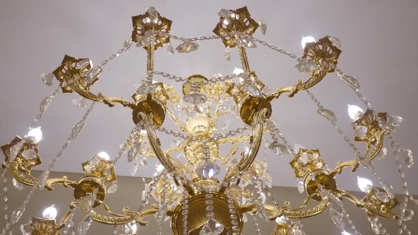 Elegant Chandelier Hanging Under The, How To Hang A Heavy Crystal Chandelier