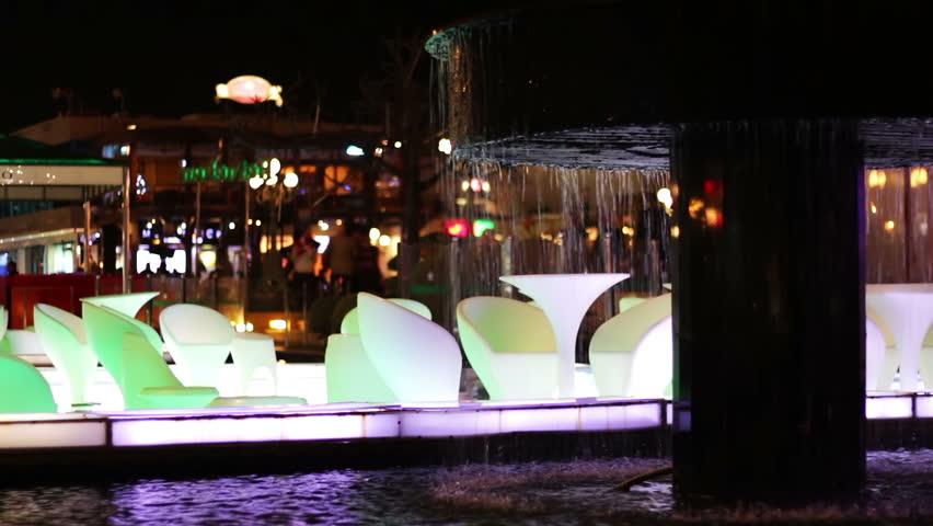 EGYPT, SOUTH SINAI, SHARM EL SHEIKH, NOVEMBER 28, 2016: Soho square.The luxury restaurant on the water | Shutterstock HD Video #23101120