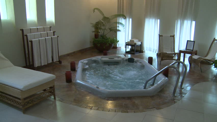 Indoor Jacuzzi Or Hot Tub Stock Footage Video 100 Royalty Free 23109730 Shutterstock