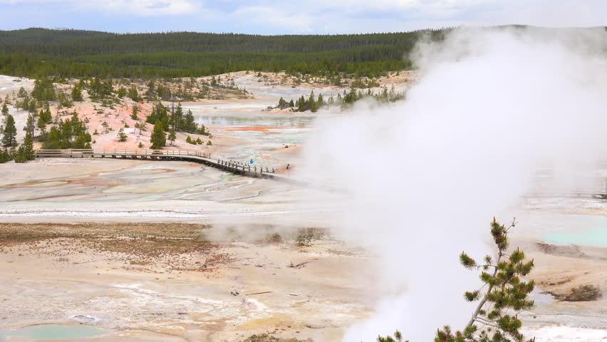 Yellowstone National Park. Wyoming. Geysers.  | Shutterstock HD Video #23138161