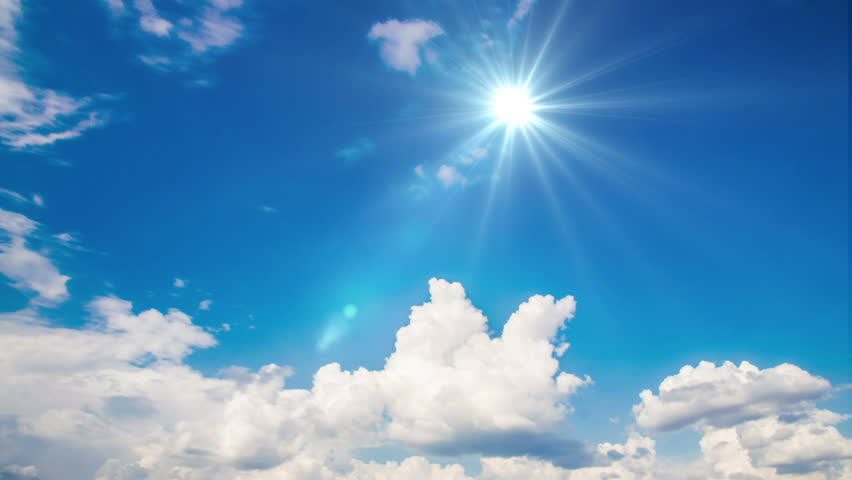 Airplane fly by sunny day blue sky.   Shutterstock HD Video #23139862