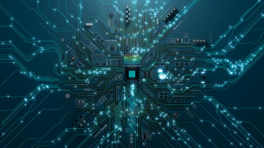 Looping Animation of Abstract Motherboard Circuit Royalty-Free Stock Footage #23140486