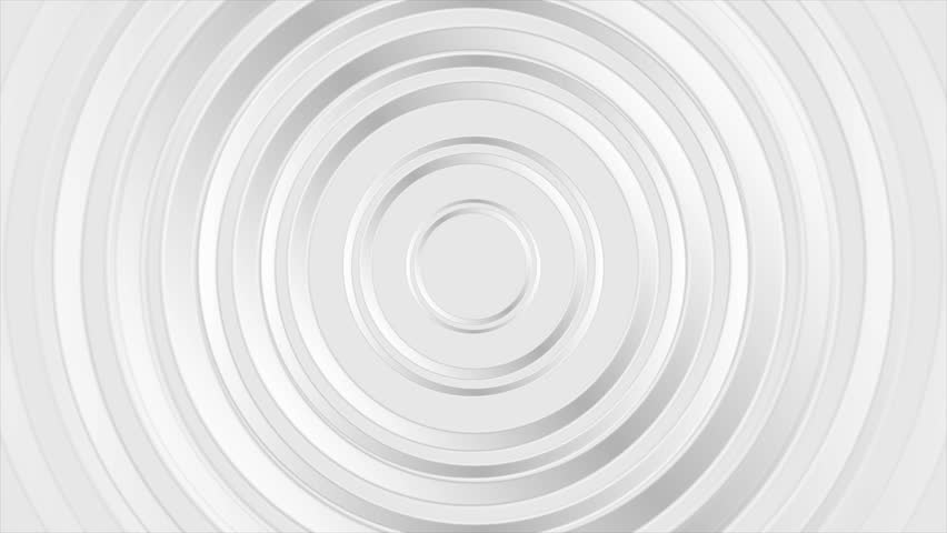 Grey pearl glossy abstract circles graphic motion background. Video animation Ultra HD 4K 3840x2160