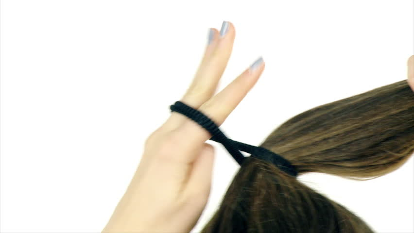 Long Hair Tied Up In Stock Footage Video 100 Royalty Free 23189278 Shutterstock