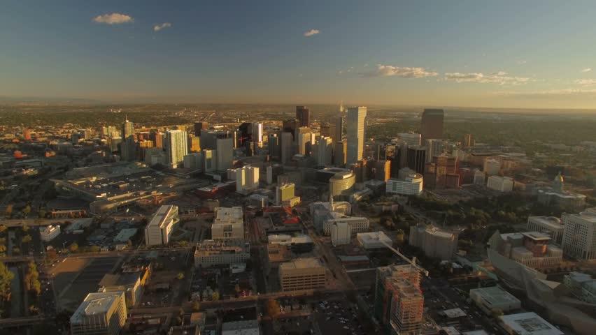 Aerial of Denver in Colorado.