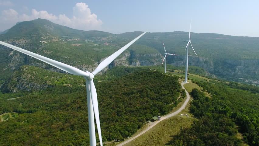 Aerial view of wind power generators in Italy | Shutterstock HD Video #23214715