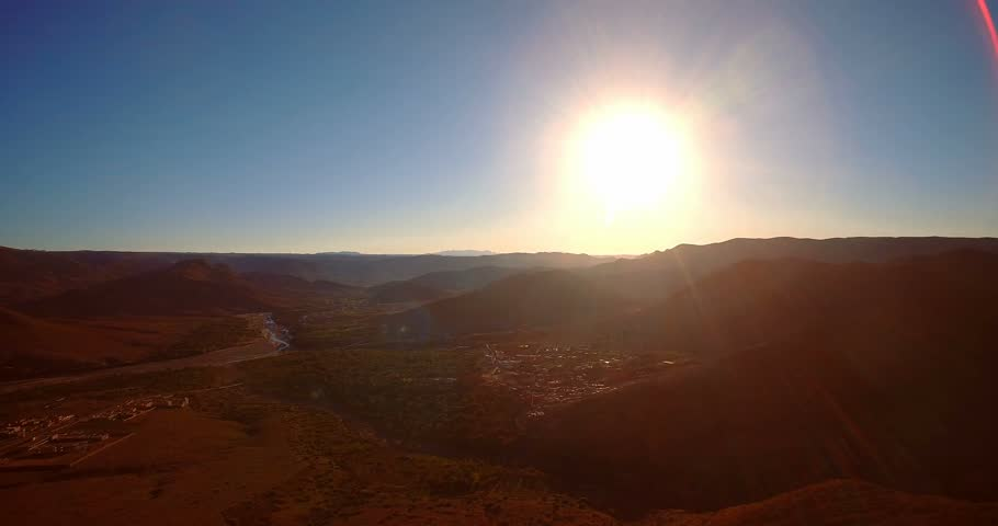 Aerial, Mountainous And Stony Desert At Tamessoult, Morocco- Native Material, straight out of the cam, watch also for the graded and stabilized version | Shutterstock HD Video #23217253