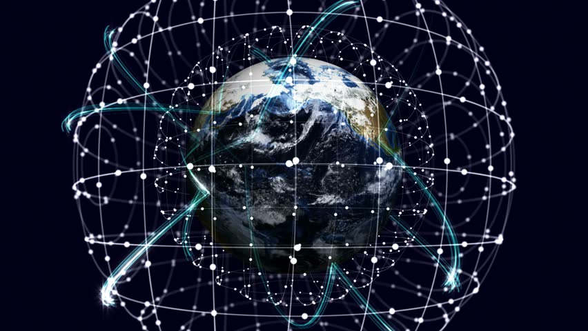 Earth, Connection Network Concept, Rendering, Animation, Background, Loop, 4k  | Shutterstock HD Video #23220844