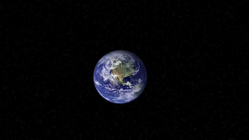 3D animation of an extreme camera zoom into Earth beginning from space. 720P