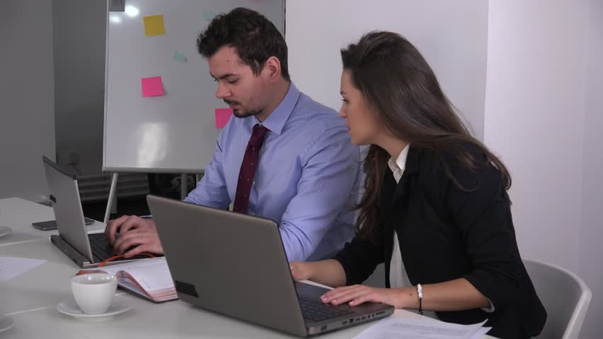 Business couple in the office teamwork anxious overworked people sales arguing | Shutterstock HD Video #23272507