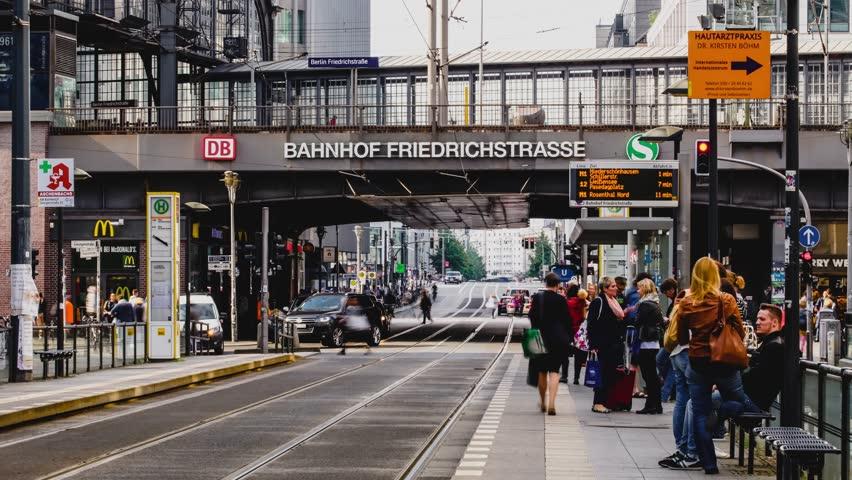 Timelapse motion video in Germany, Berlin in Europe