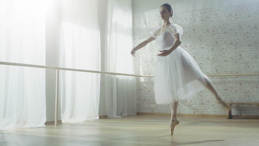 Young And Beautiful Ballerina Dances Arkivvideomateriale 100 Royaltyfritt 23337373 Shutterstock