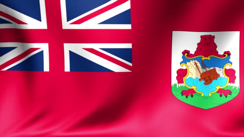 Bermuda flag, Bermuda Islands flag, Bermudas flag, flag. Background Seamless Looping Animation. 4K High Definition Video.   Shutterstock HD Video #23347291