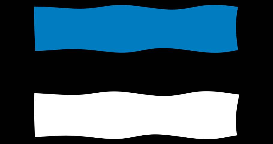 Estonia flag waving in the wind 4k loop footage video on transparent alpha chanel  | Shutterstock HD Video #23368378