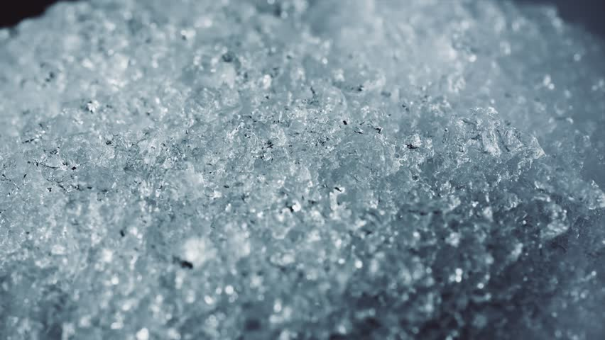 ice snow crystal macro shot 4k