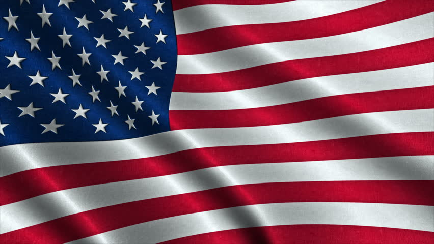 Usa American Flag Waving In Stock Footage Video  100