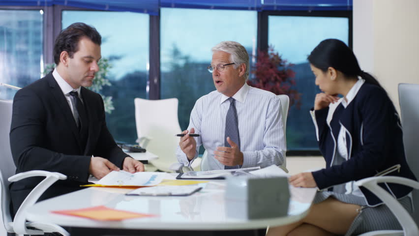 Business team in large corporate offices #23400439