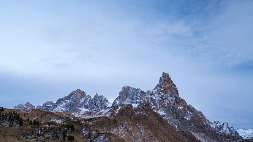 View of Sella Pass, Mountain Range Dolomites, Italy, Europe | Shutterstock HD Video #23429443