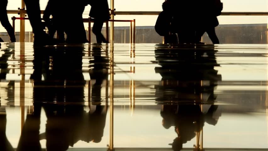 Passengers walking inside the airport terminal | Shutterstock HD Video #23434147