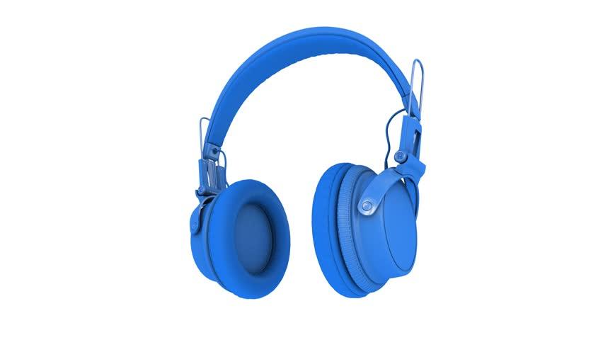 Wireless headphones clip - blue wireless headphones