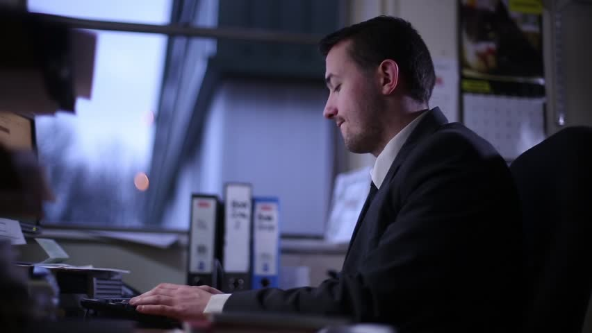 Unhappy Employee Working Long Hours | Shutterstock HD Video #23540539
