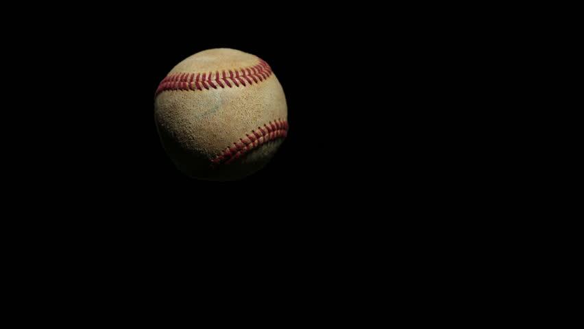 Baseball Bat hitting ball, super slow motion. Stock footage video clip