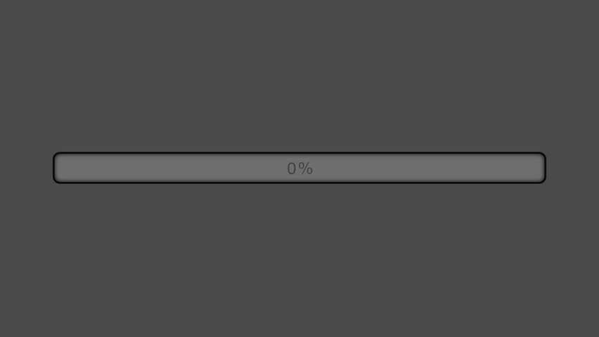Orange Progress Bar Animated