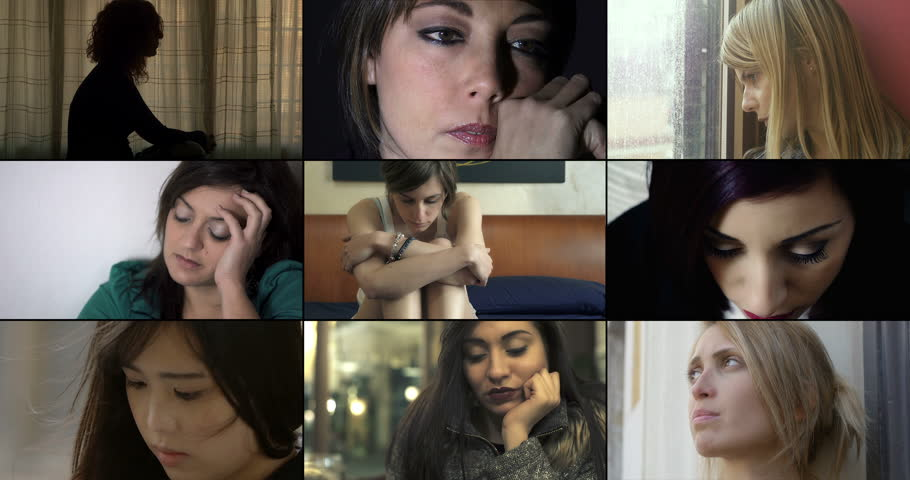 Composition of sad women for love problems | Shutterstock HD Video #23585290