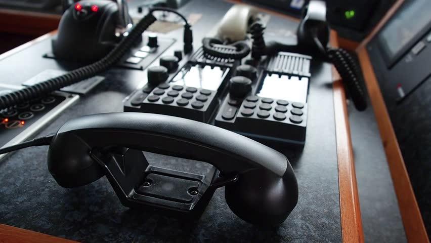 Black phone internal and external shipboard satellite and radio communication   Shutterstock HD Video #23588065