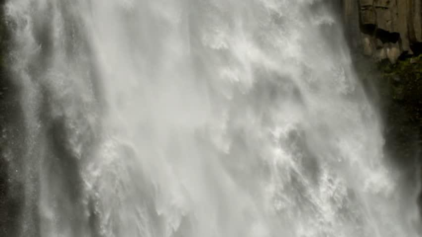 Tilt down Cascada Magica (Magic Waterfall) in slow motion. In the Rio Malo Valley, the Ecuadorian Amazon.  | Shutterstock HD Video #23591719