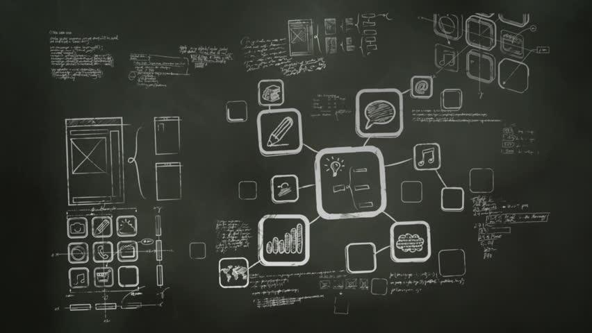 Mobile App Development Blackboard Scribblings