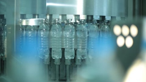 Water bottles production