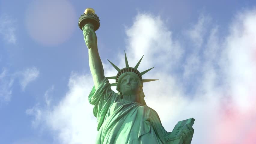 Statue of Liberty with bokeh, light effect - New York City | Shutterstock HD Video #23643709