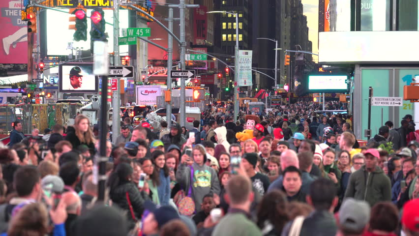 Crowd Of People On Time Stock Footage Video (100% Royalty-Free) 23644432   Shutterstock