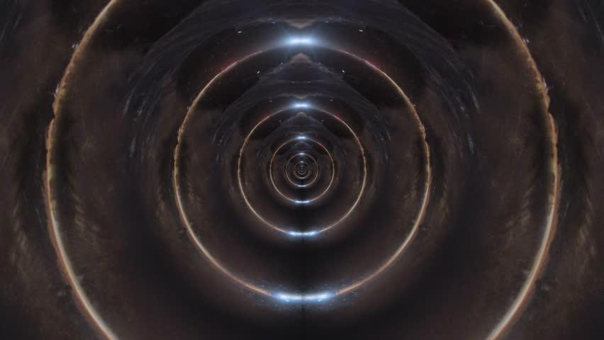 Mirror wave light ring infinite zoom abstract art 4k