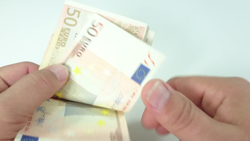 Hands counting euro banknotes  | Shutterstock HD Video #23651620
