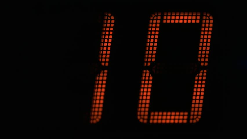 Countdown seconds on the electronic board | Shutterstock HD Video #23665075