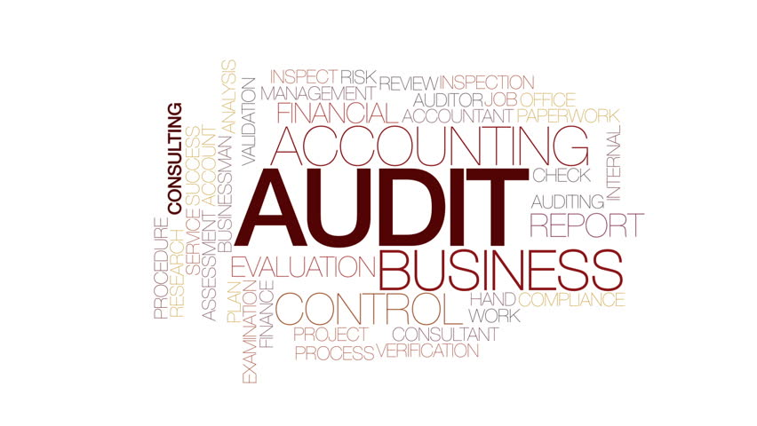Audit animated word cloud, text design animation. Kinetic typography.   Shutterstock HD Video #23666755