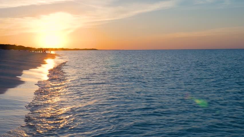 Showing A Beautiful Caribbean Sun Set On A Tropical Beach   Shutterstock HD Video #23668513