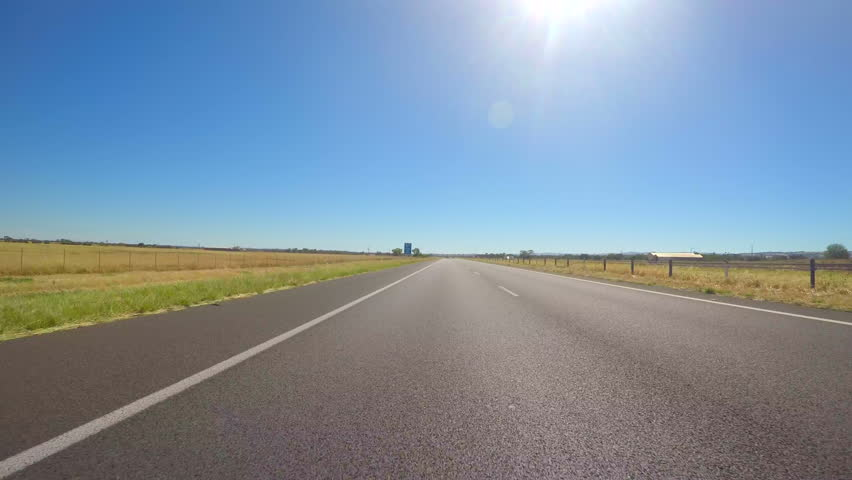 4k country freeway vehicle POV, driving along the Northern Expressway, from Adelaide, South Australia to the Barossa Valley, showing speed detectors on the right.