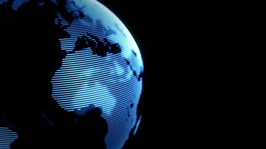 Digital world globe seamless loop. 4K animation   Shutterstock HD Video #23682886